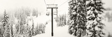Chair Lift and Snowy Evergreen Trees at Stevens Pass, Washington State, USA Photographic Print by  Panoramic Images