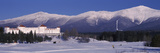 Hotel Near Snow Covered Mountains, Mt. Washington Hotel Resort, Mount Washington, Bretton Woods,... Photographic Print by  Panoramic Images
