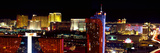 High Angle View of a City at Night, Las Vegas, Clark County, Nevada, USA Photographic Print by  Panoramic Images