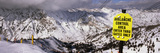 Information Board in a Ski Resort, Snowbird Ski Resort, Utah, USA Photographic Print by  Panoramic Images