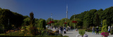 Tourists in a Garden with a Tower in the Background, Toronto Islands, Cn Tower, Toronto, Ontario... Photographic Print by  Panoramic Images