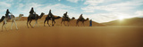 Tourists Riding Camels Through the Sahara Desert Landscape Led by a Berber Man, Morocco Photographic Print by  Panoramic Images