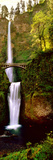 Footbridge in Front of a Waterfall, Multnomah Falls, Columbia River Gorge, Multnomah County, Ore... Photographic Print by  Panoramic Images