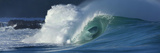 Waves Breaking in the Pacific Ocean, Waimea Bay, Oahu, Hawaii, USA Photographic Print by  Panoramic Images