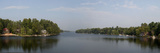 Reflection of Trees in a River, Moon River, Bala, Ontario, Canada Photographic Print by  Panoramic Images