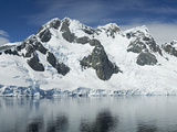 Reflection of a Snow Covered Mountain in Water, Antarctic Peninsula, Antarctica Photographic Print by Panoramic Images