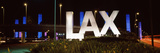 Neon Sign at an Airport, Lax Airport, City of Los Angeles, Los Angeles County, California, USA Photographic Print by  Panoramic Images