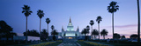 Formal Garden in Front of a Temple, Oakland Temple, Oakland, Alameda County, California, USA Fotografisk tryk af Panoramic Images