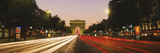 Traffic on the Road, Avenue Des Champs-Elysees, Arc De Triomphe, Paris, Ile-De-France, France Photographic Print by  Panoramic Images