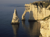 Rock Formations in the Sea, Etretat, Seine-Maritime, Haute-Normandy, France Photographic Print by  Panoramic Images