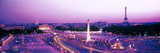 Dusk Place De La Concorde Paris France Photographic Print by  Panoramic Images