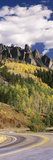 Winding Road Passing Through Mountains, Jackson Guard Station, Ridgway, Colorado, USA Photographic Print by  Panoramic Images
