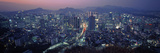 Aerial View of a City, Seoul, South Korea 2011 Photographic Print by  Panoramic Images