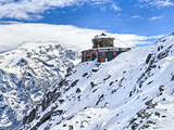 Tibet Hotel in Snowcapped Mountain, Stelvio Pass, Italy Photographic Print by  Panoramic Images