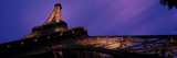 Dusk Eiffel Tower Paris France Photographic Print by  Panoramic Images
