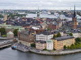 High Angle View of a City, Stockholm, Sweden Photographic Print by  Panoramic Images