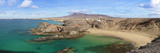 Cliffs on the Beach, Papagayo Beach, Lanzarote, Canary Islands, Spain Photographic Print by  Panoramic Images