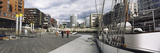 Boat at a Harbor, Hafencity, Hamburg, Germany Photographic Print by Panoramic Images