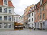 Buildings Along a Street, Old Town, Riga, Latvia Photographic Print by  Panoramic Images