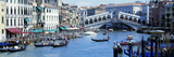 Rialto Bridge and Grand Canal Venice Italy Photographie par Panoramic Images
