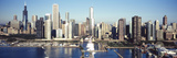 Skyscrapers in a City, Navy Pier, Chicago Harbor, Chicago, Cook County, Illinois, USA 2011 Photographic Print by  Panoramic Images
