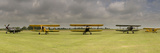 Historic Airplanes in a Field, Old Buckenham, Norfolk, England Photographic Print by Panoramic Images 