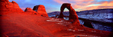 Natural Arch in a Desert, Delicate Arch, Arches National Park, Utah, USA Photographic Print by  Panoramic Images