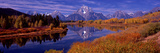 Reflection of Mountains in the River, Mt Moran, Oxbow Bend, Snake River, Grand Teton National Pa... Photographic Print by  Panoramic Images
