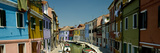 Boats in a Canal, Grand Canal, Burano, Venice, Italy Photographic Print by  Panoramic Images