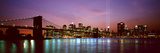 Skyscrapers Lit Up at Night, World Trade Center, Lower Manhattan, Manhattan, New York City, New ... Fotografisk tryk af Panoramic Images,