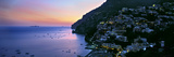 Buildings Lit Up at Night, Positano, Amalfi, Amalfi Coast, Campania, Italy Photographic Print by  Panoramic Images