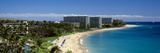 Hotels on the Beach, Kaanapali Beach, Maui, Hawaii, USA Photographic Print by Panoramic Images