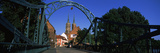 Bridge with Church in the Background, Wroclaw, Poland Photographic Print by  Panoramic Images