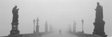 Statues and Lampposts on a Bridge, Charles Bridge, Prague, Czech Republic Photographic Print by  Panoramic Images