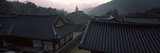 Buddhist Temple with Mountain Range in the Background, Kayasan Mountains, Haeinsa Temple, Gyeong... Photographic Print by  Panoramic Images