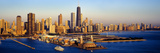 Aerial View of a City, Navy Pier, Lake Michigan, Chicago, Cook County, Illinois, USA Photographic Print by  Panoramic Images