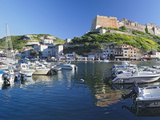 Castle on a Hill, Bonifacio Harbour, Corsica, France Photographic Print by Panoramic Images 