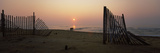 Fences on the Beach at Sunrise, Cape Hatteras National Seashore, North Carolina, USA Photographic Print by  Panoramic Images