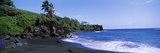Tide on the Beach, Black Sand Beach, Hana Highway, Waianapanapa State Park, Maui, Hawaii, USA Photographic Print by  Panoramic Images