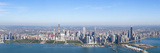 Aerial View of a Cityscape, Trump Tower, Willis Tower, Hancock Building, Navy Pier, Chicago, Coo... Photographic Print by  Panoramic Images