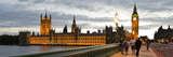 Parliament Buildings Lit Up at Dusk, Houses of Parliament, Thames River, City of Westminster, Lo... Photographic Print by  Panoramic Images