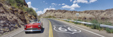 Vintage Car Moving on the Road, Route 66, Arizona, USA Photographic Print by  Panoramic Images