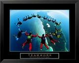 Teamwork– Fallschirmspringer II Kunstdrucke