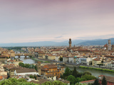 Buildings in a City, Ponte Vecchio, Arno River, Duomo Santa Maria Del Fiore, Florence, Tuscany, ... Photographic Print by  Panoramic Images