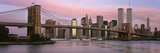 Bridge across a River, Brooklyn Bridge, Manhattan, New York City, New York State, USA Photographic Print by Panoramic Images 