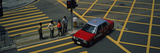 Car Moving on a Pedestrian Crossing, Central District, Victoria, Hong Kong Island, Hong Kong, China Photographic Print by  Panoramic Images