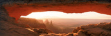 Sunrise Through Mesa Arch in Canyonlands National Park, Utah, USA Photographie par Panoramic Images 