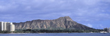 Buildings with Mountain Range in the Background, Diamond Head, Honolulu, Oahu, Hawaii, USA Photographic Print by  Panoramic Images
