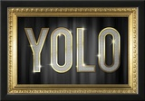 YOLO Bling Faux Frame Poster Print