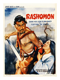 Japanese Movie Poster - Rashomon in French Giclee Print